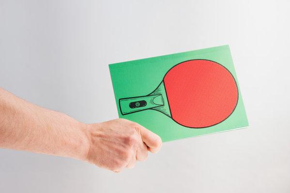 Des blocs-notes pour jouer au ping-pong