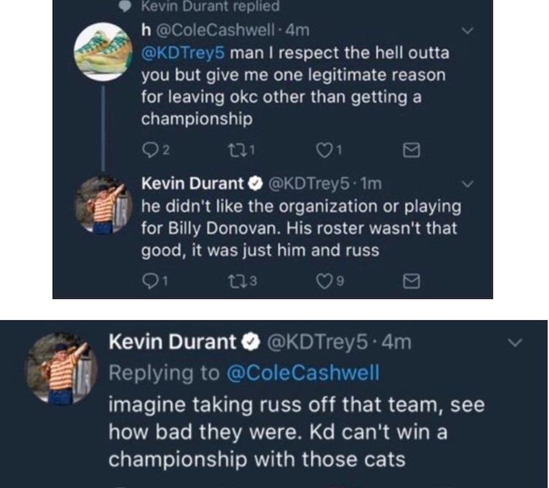 NBA: Durant se trompe de compte Twitter et incendie son ancien club